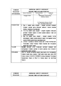 SPO Surgical Safety Chekclist Sign In, Time Out & Sign Out (RS Kariadi).docx