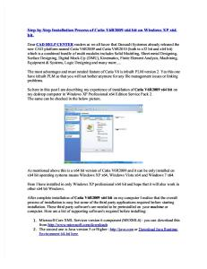 Step by Step Installation Process of Catia V6R2009 x64 bit on Windows XP x64 bit