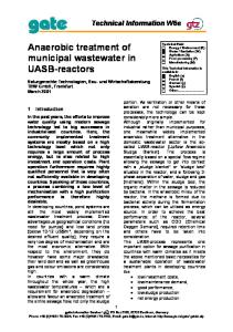 TBW 2001b Anaerobic Treatment of Municipal Wastewater in UASB Reactors