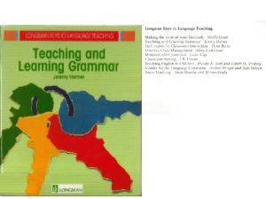 teaching and learning grammar harmer pdf free download
