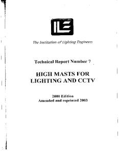 Technical Report No. 7 - High Masts for Lighting and CCTV