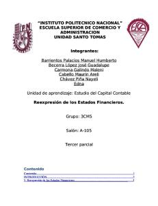 Tercer Parcial Capital Contable