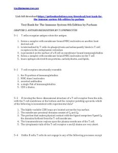 Test Bank for the Immune System 4th Edition by Parham