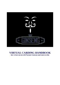 The Essential Virtual Carding Handbook - PDF Free Download