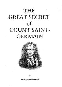 The Great Secret of Count St Germain