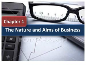 The Nature and Aims of Business