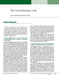 The Neurotheology Link