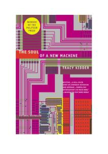 the Soul of a New Machine by Tracy Kidder (Download eBook PDF, Epub, Mobi, Mp3)