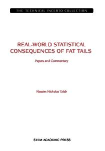 THE STATISTICAL CONSEQUENCES OF FAT TAILS  [TECHNICAL INCERTO COLLECTION]