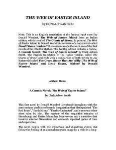 The Web of Easter Island - A Cthulhu Mythos Novel