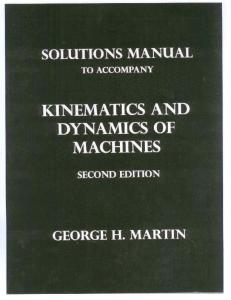 Theory of Machines Solutions Manual
