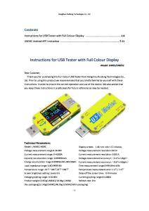 UM34(C) USB Tester Meter Instruction Android APP Instruction- 2 in 1 - 2018.6.13 (2)
