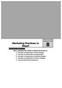 Unit 8 Marketing Practices in Nepal