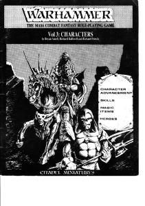Warhammer 1st Edition - Vol 3 - Characters