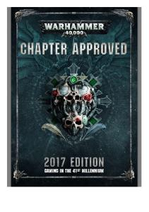 Warhammer 40k 8th Chapter Approved 2017
