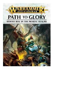Warhammer - Age of Sigmar - Supplements - Path to Glory 2017