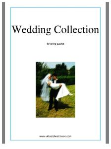 Wedding Collection for String Cuartet