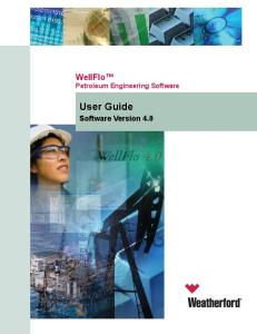 WellFlo User Guide 20090130