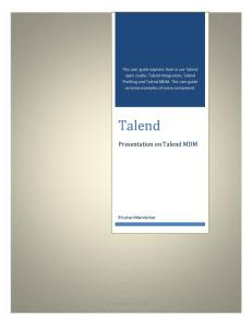 What is Talend MDM