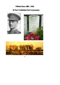 Wilfred Owen Booklet for IOC 2012